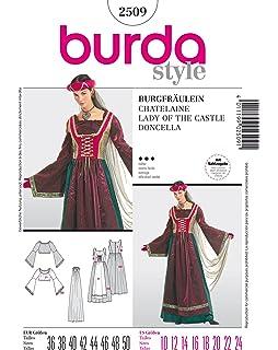 Burda 2514 Schnittmuster Kost/Ÿm Fasching Karneval Carmen /& Zigeunerin Damen, Gr, 36-48 Level 2 leicht