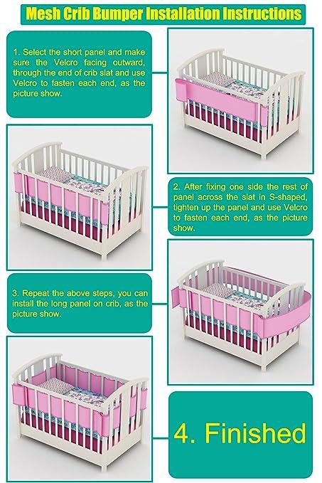 Amazon Com Permande Breathable Crib Bumper Collision Proof
