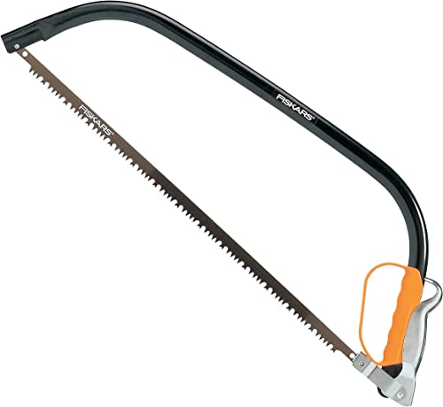 "Fiskars 21"" Bow Saw SW30, Fixed blade, Length: 62 cm, Plastic blade guard included, steel, Black/Orange, 1001621"