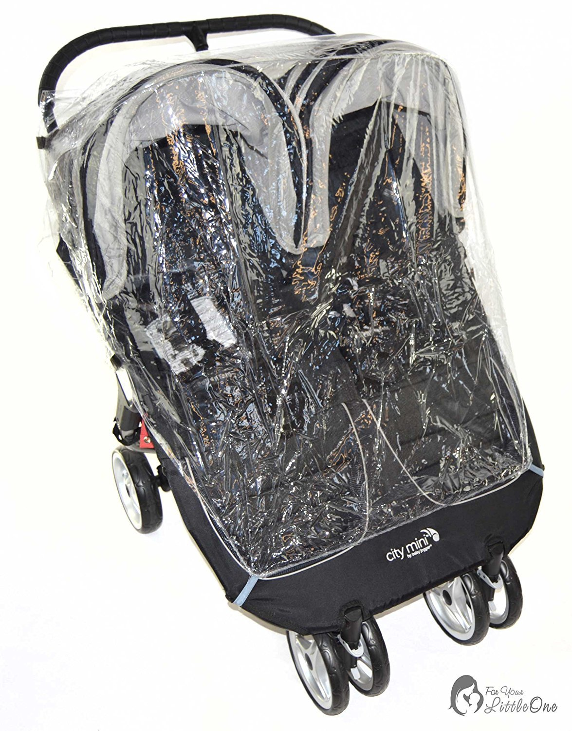 Raincover Compatible with My Child Easy Twin Double Pushchair (213) For-Your-Little-One
