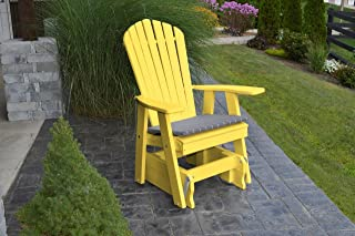 product image for Outdoor Poly Adirondack Gliding Chair - Lemon Yellow