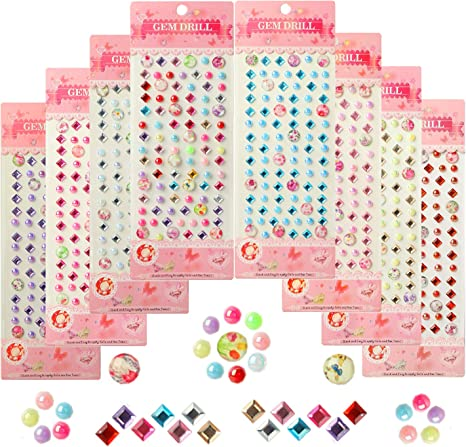 100 X Red Self Adhesive Rhinestones For Scrapbooking Cardmaking