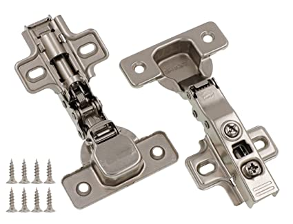 Charmant Full Overlay Concealed Frameless Cabinet Hinge   Soft Closing   Clip On  Plate (50)