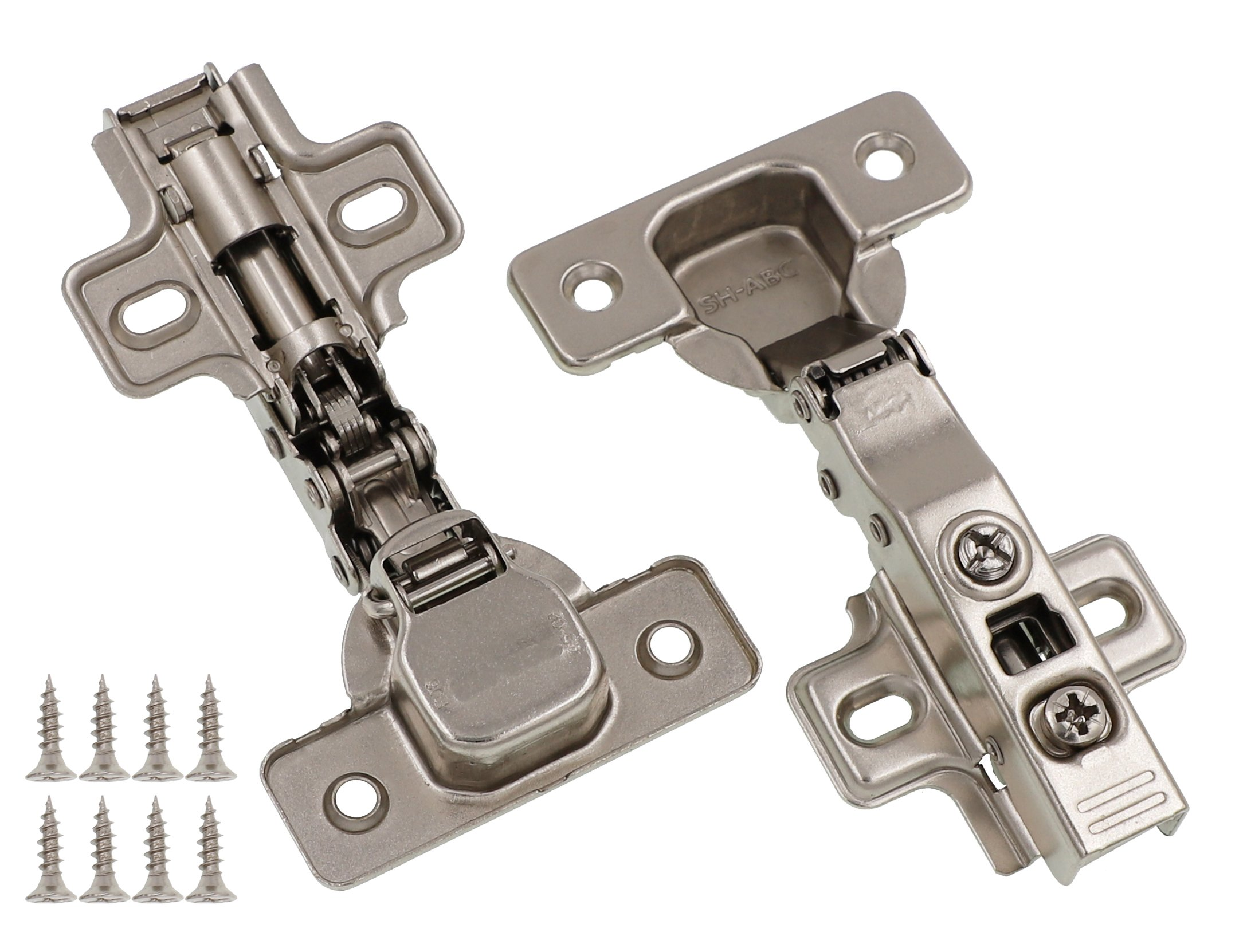 Full Overlay Concealed Frameless Cabinet Hinge - Soft Closing - Clip on Plate (20)