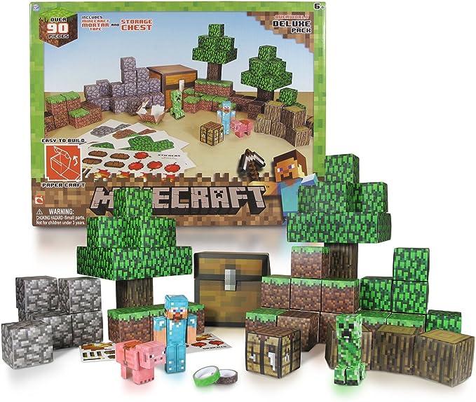 Minecraft - Papercraft Set Deluxe , color/modelo surtido: Amazon.es: Juguetes y juegos