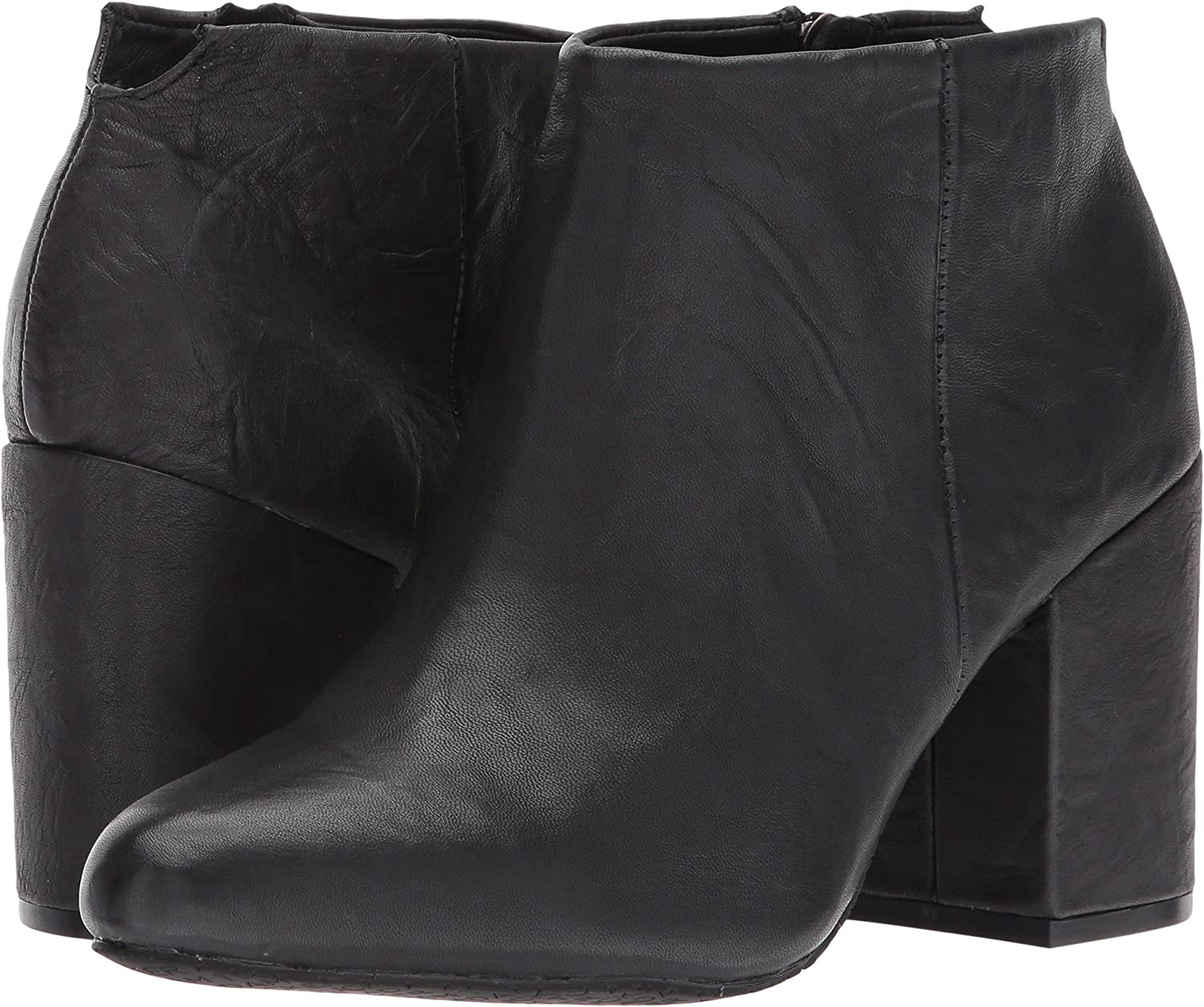 Me Too Womens Zia B07239JDKB 8.5 B(M) US|Black Crinkle Leather
