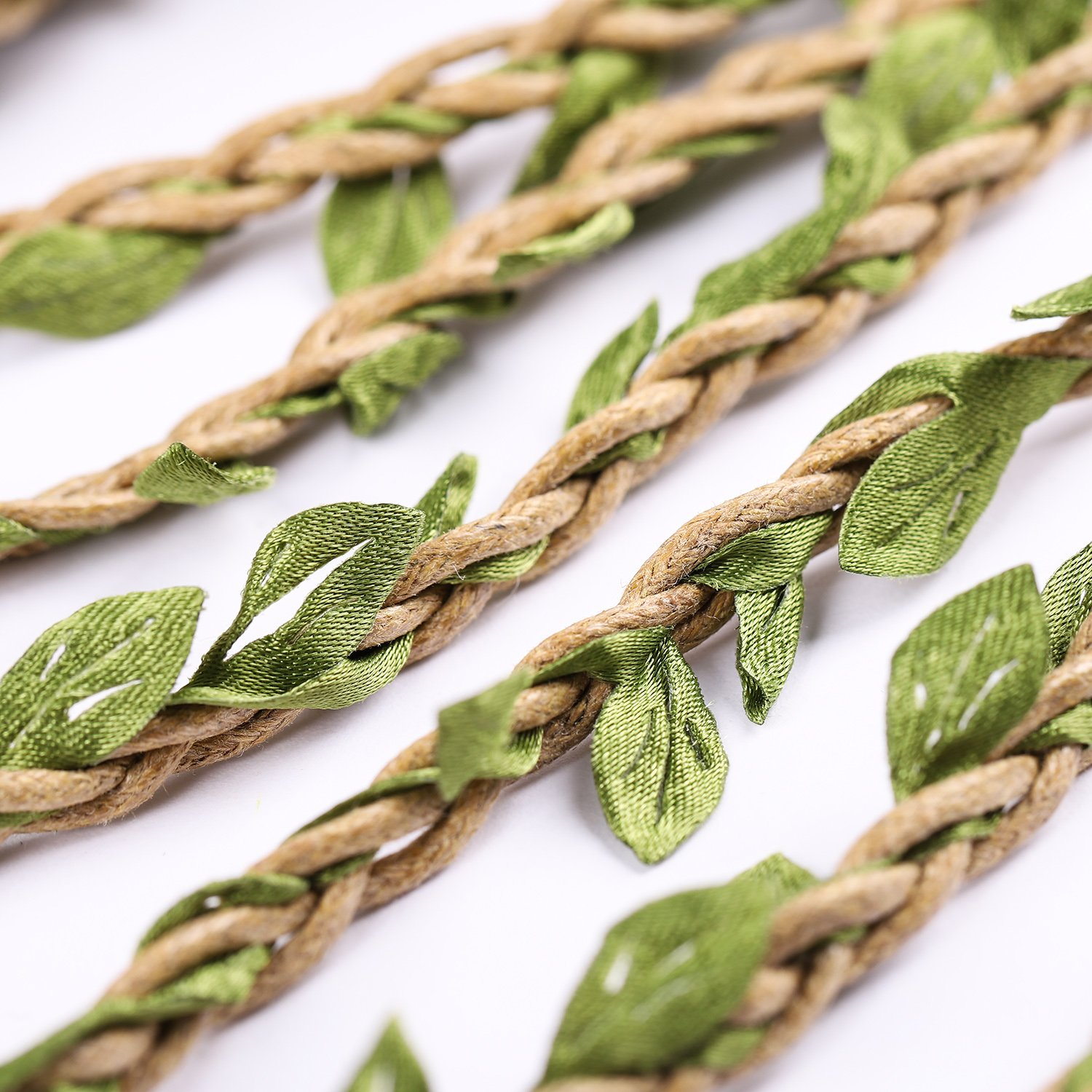 Whaline 98 Feet Artificial Vines Fake Foliage Ivy Leaf Plant Garland Rustic Vines for Wedding Party Home Wreaths Decor
