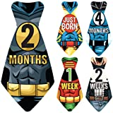 """Amazon Price History for:Original Stick'Nsnap (TM) 17 Baby Monthly Necktie Onesie Stickers - """"Happy Heroes"""" (TM) Milestones for 12 Months + for a limited time, 5 Bonus Milestones - Great Baby Shower Gift!"""
