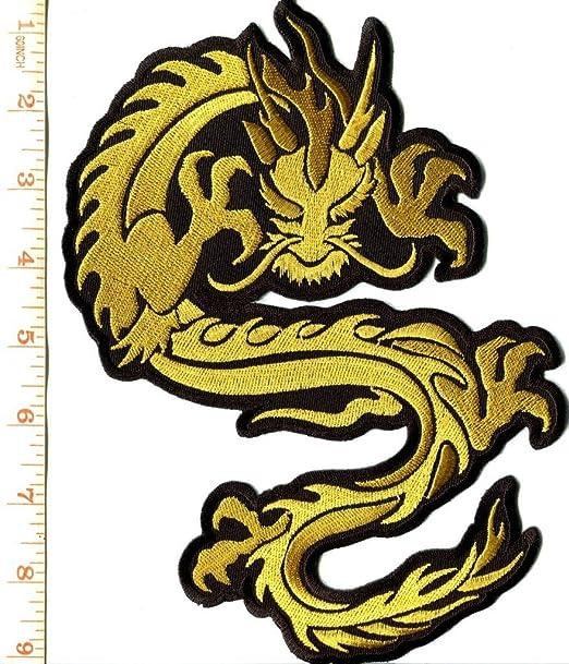 Parche para tatuaje de Kung Fu con diseño de dragón chino gigante ...
