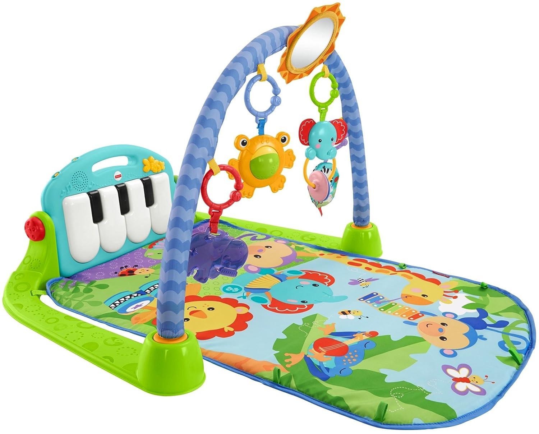 Fisher-Price Kick n Play Piano Gym, Blue Green