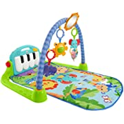 Fisher-Price Kick 'n Play Piano Gym, Blue/Green
