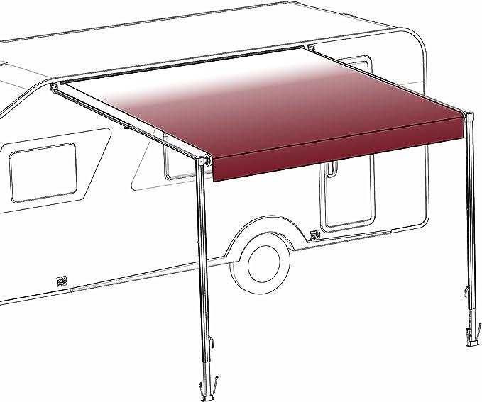 Aleko 12 X 8 Füße Vinyl Wohnmobil Vorzelt Stoff Ersatz Für Einziehbare Markise Burgund Verblassen Farbe Baumarkt