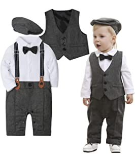 1bdb978607def Amazon.com: Yilaku Baby Boys Clothes Sets Bow Ties Shirts + ...