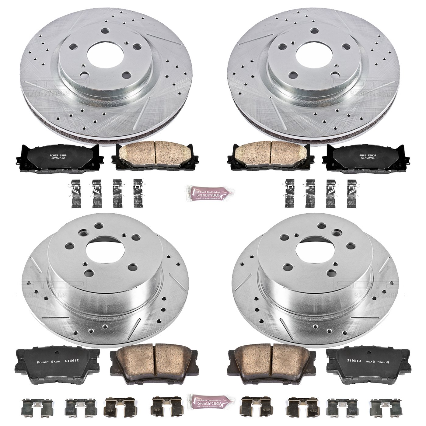 Amazon Power Stop K2822 Front and Rear Z23 Evolution Brake Kit