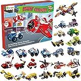 D-FantiX Kids Christmas Advent Calendar 2020, Christmas Countdown Calendar with Construction Vehicles Building Kits STEM…