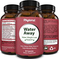 Premium Water Pills Diuretic Natural & Pure Dietary Supplement for Water Retention Relief Weight loss Detox Cleanse for Men & Women with Vitamin B-6 Potassium Chloride Dandelion Root by Phytoral