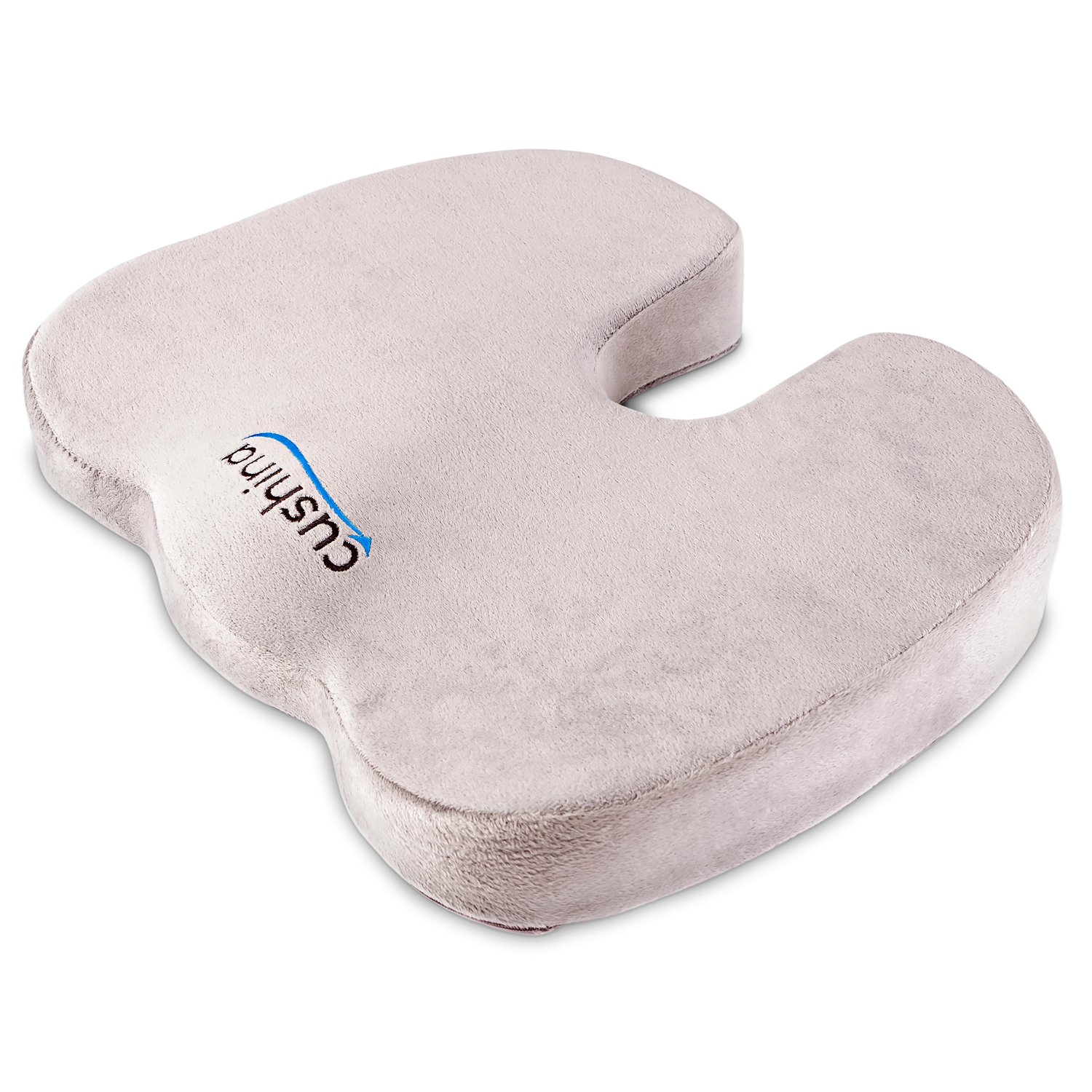 Amazon.com: Cushina 100% Premium Memory Foam Seat Cushion U0026 Orthopedic  Pillow For Coccyx, Tailbone, Lower Back And Sciatica Pain Relief   Home,  Office, Car, ...