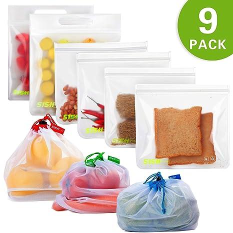 Amazon.com: Bolsas de sándwich reutilizables con bolsas de ...