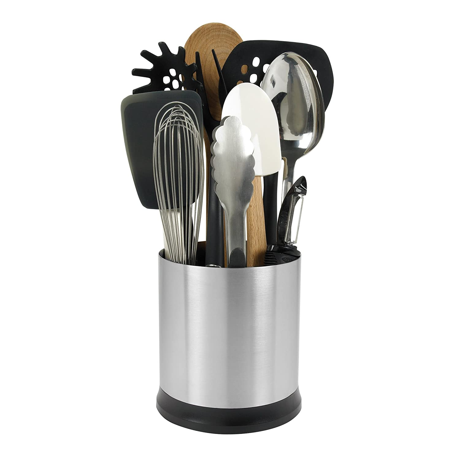 Kitchen Utensil Storage Amazoncom Oxo Good Grips Stainless Steel Rotating Utensil Holder