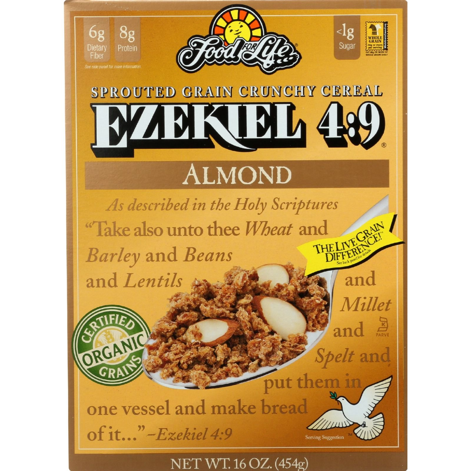 Food For Life Ezekiel 4:9 Organic Sprouted Grain Cereal - Almond - 16 oz by Food for Life