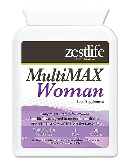 Zestlife MultiMAX multi vitaminas para las mujeres de 30 cápsulas fáciles de tragar