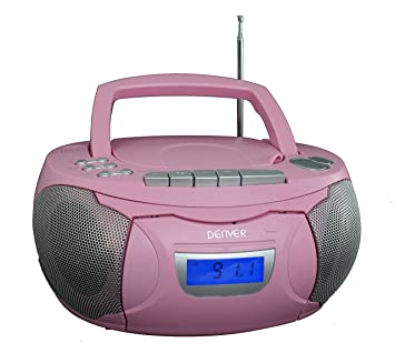 Denver TCP de 39 Niños Niñas Equipo Estéreo Sonido eléctrica Reproductor de CD Casete Boombox temporizador Ecualizador: Amazon.es: Electrónica