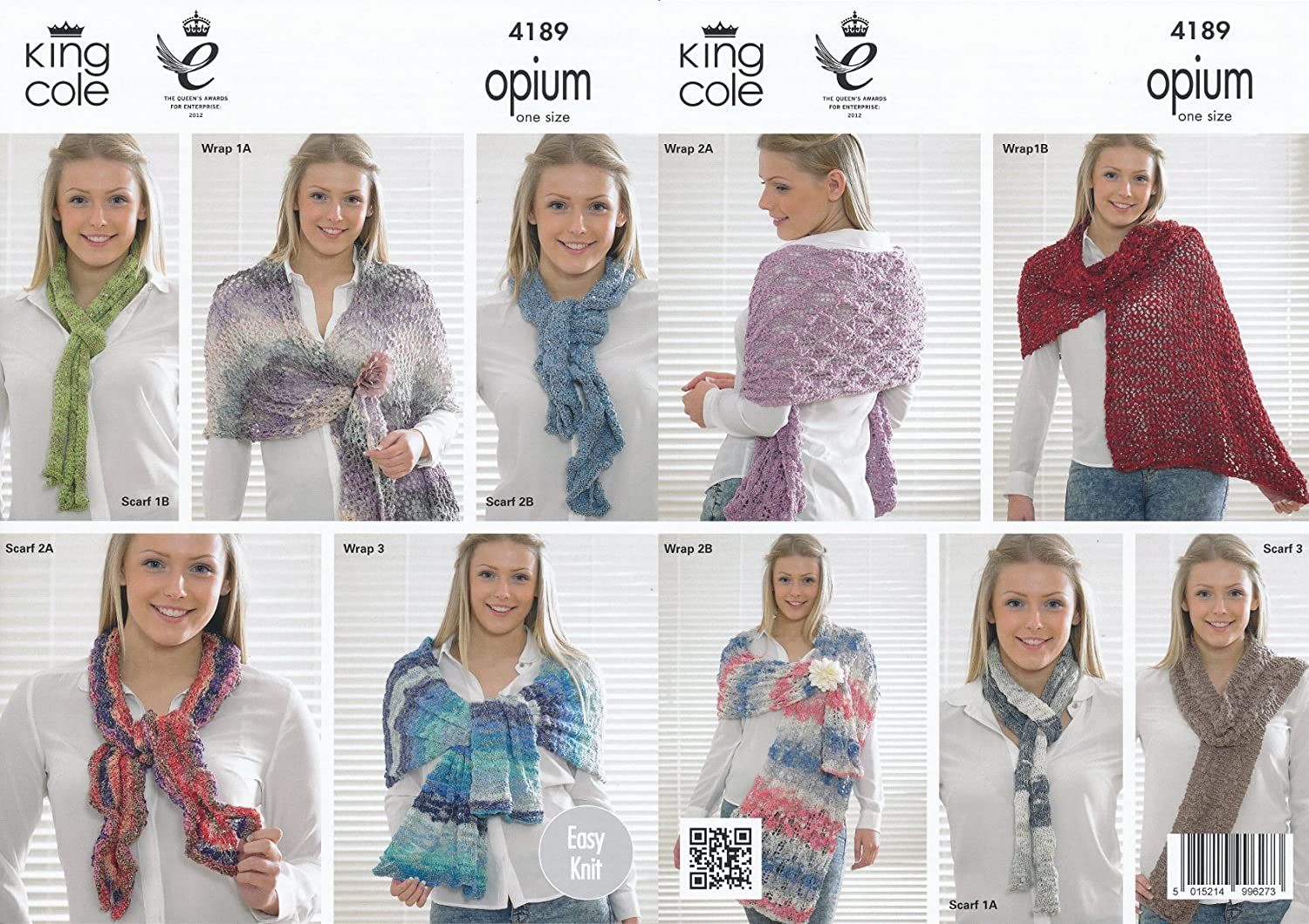 Amazon.com: King Cole Opium & Cosmos Knitting Pattern for Ladies ...