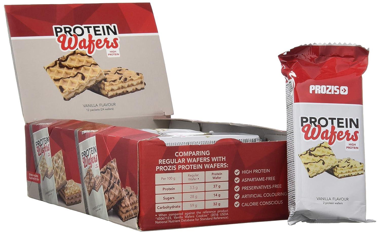 Prozis Protein Wafer, Vainilla - 12 Unidades: Amazon.es: Salud y cuidado personal