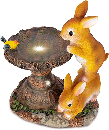 RealPetaled Rabbit Garden Statues and Figurines