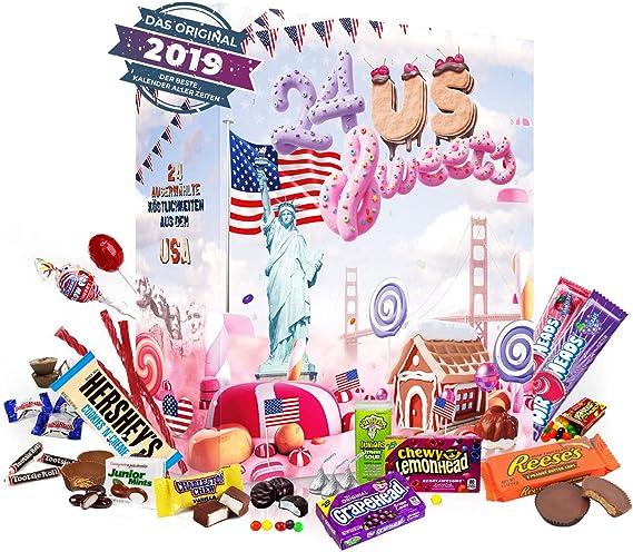 Calendario de Adviento de Dulces de EE. UU. I Calendario de ...