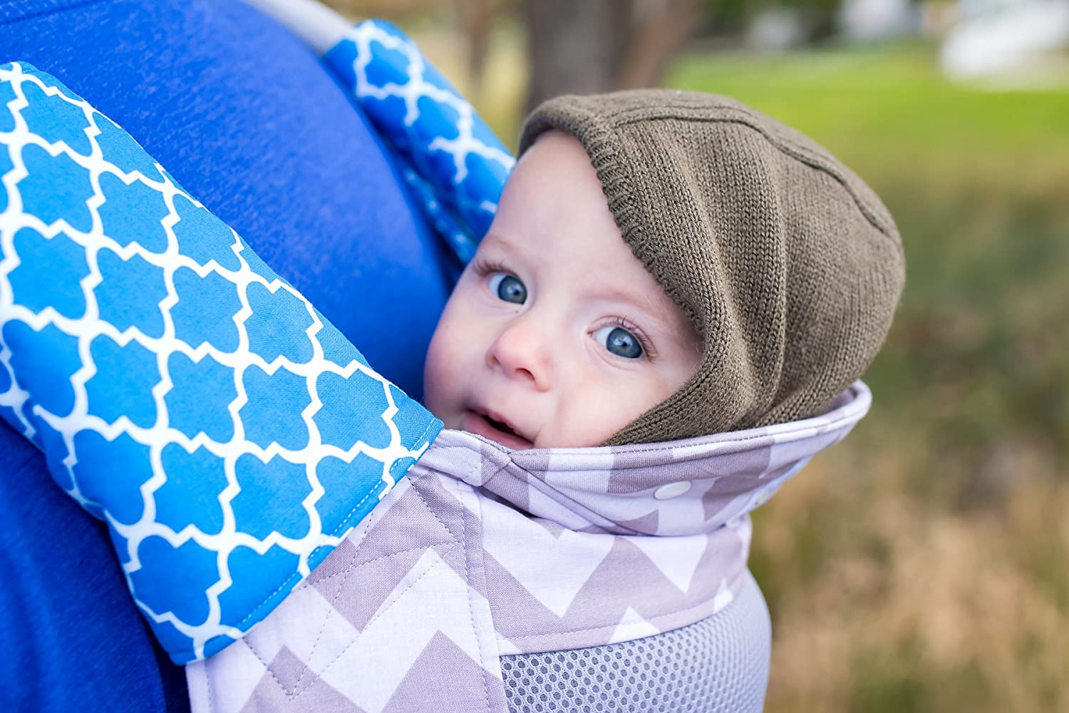 Jublii Soft-Structured Baby Carrier. Ergonomic, Front and Back Carry. ASTM certified. Made in USA. Small, Mesh Panel