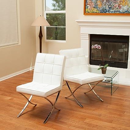 amazon com pandora modern design leather dining chairs set of 2