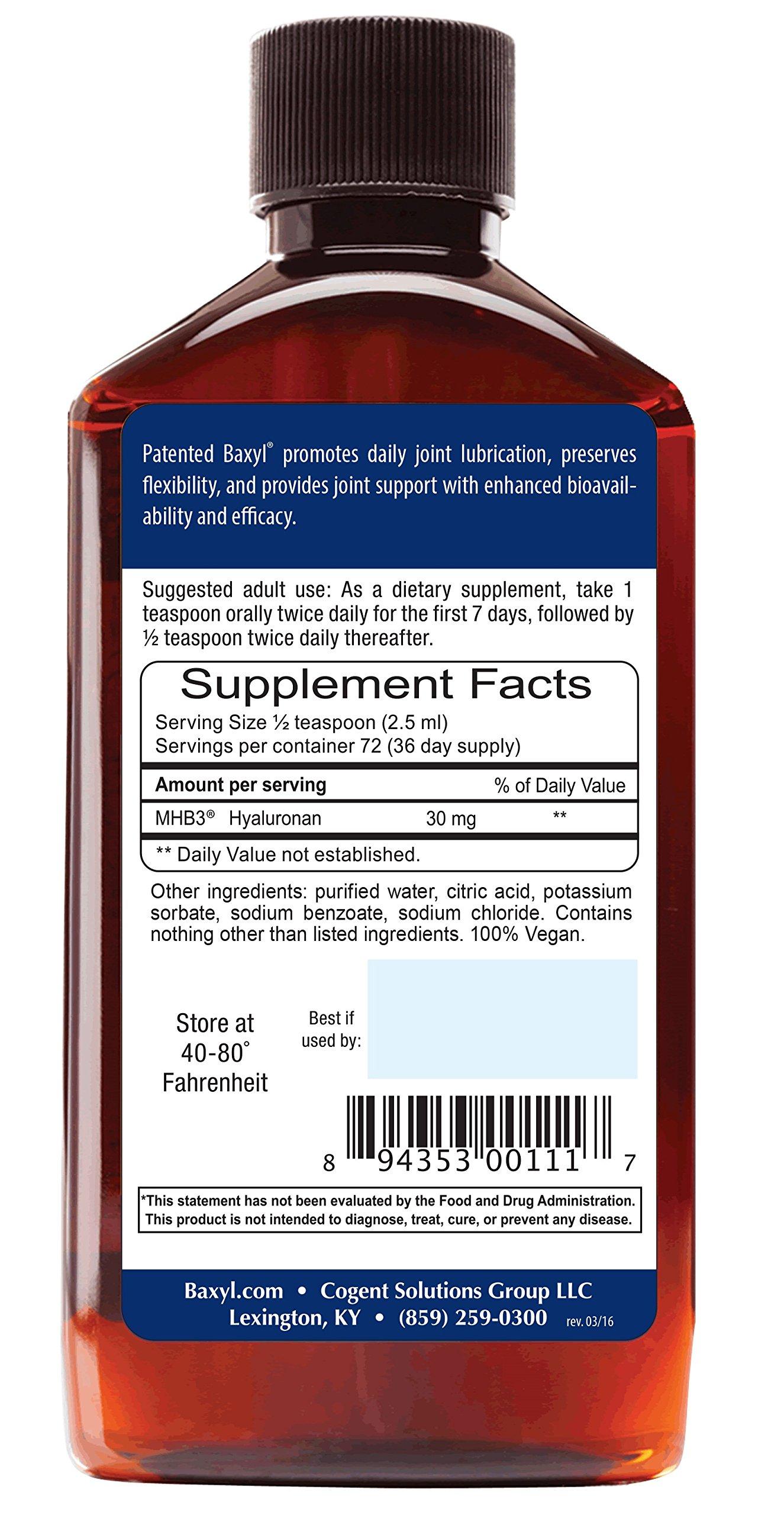 Baxyl Hyaluronan Liquid, 6 oz.(Pack of 2) by Baxyl