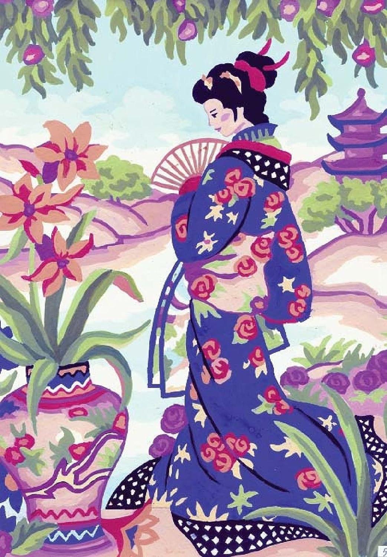 Grafitec Imprimé Tapisserie//Tapisserie Toile Geisha Jardin