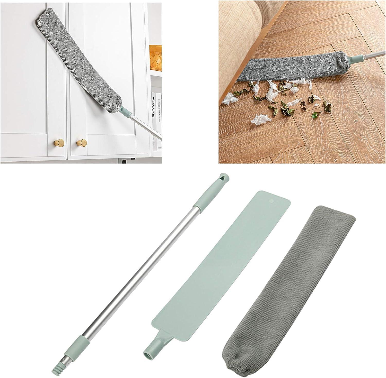 1PC Einstellbare Moppkehrb/ürste mit langem Griff handgehaltene Rillenspalt-Reinigungswerkzeuge Bedside Staubb/ürste Notdark Staubwedel