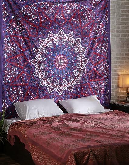 Rajrang Bohemian Psychedelic Wall Hanging Cotton Star Tapestry Wall Art