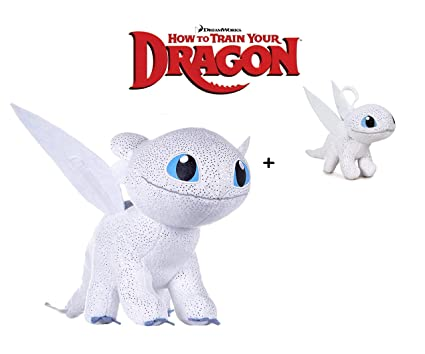 Amazon.com: How to Train Your Dragons - Plush Toy Light Fury ...