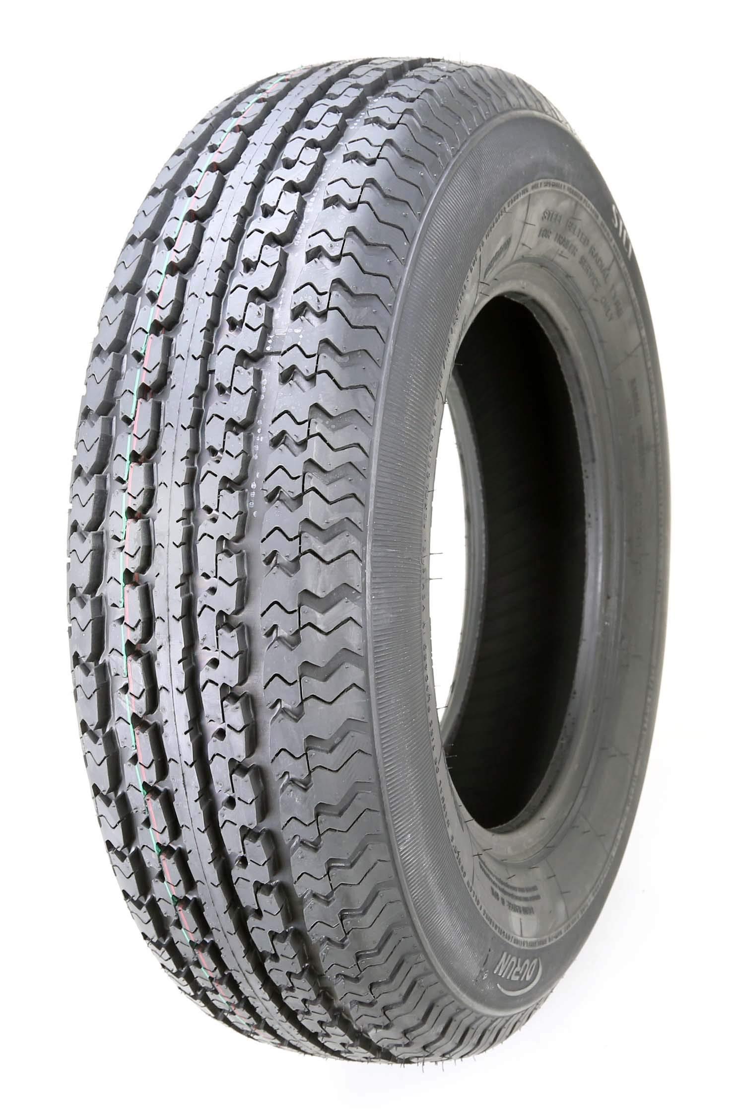 One New Premium DURUN Trailer Tire ST 205 75R15 / 8PR Load Range D Steel Belted