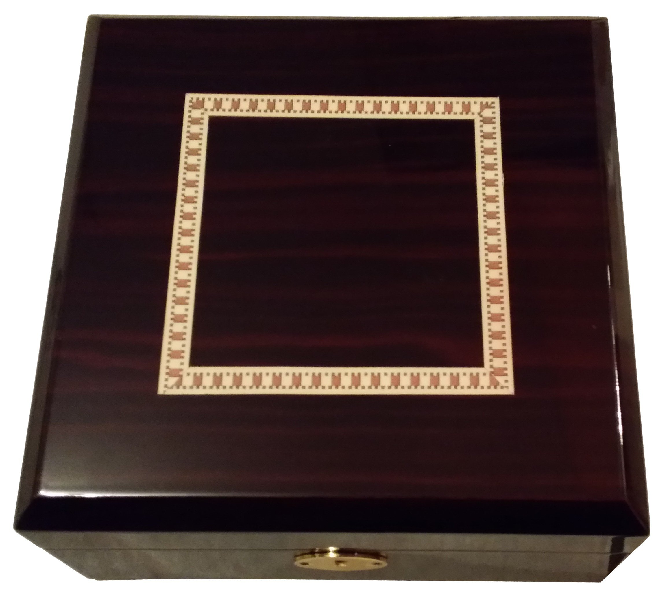Elegant Cherry Wood Watch Box - Extra Large Compartments for 6 Watches