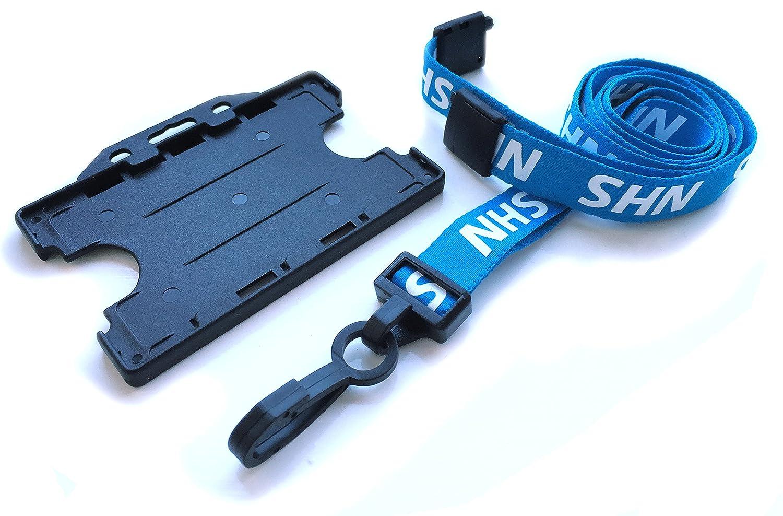 NHS Value Soft Neck Strap Lanyard /& Double Sided Blue Badge Holder