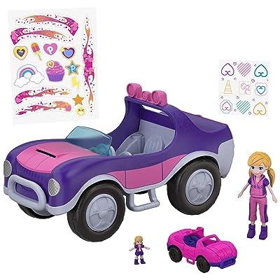 Polly Pocket Coche misión secreta, coche de muñecas (Mattel FWY26): Juguetes y juegos