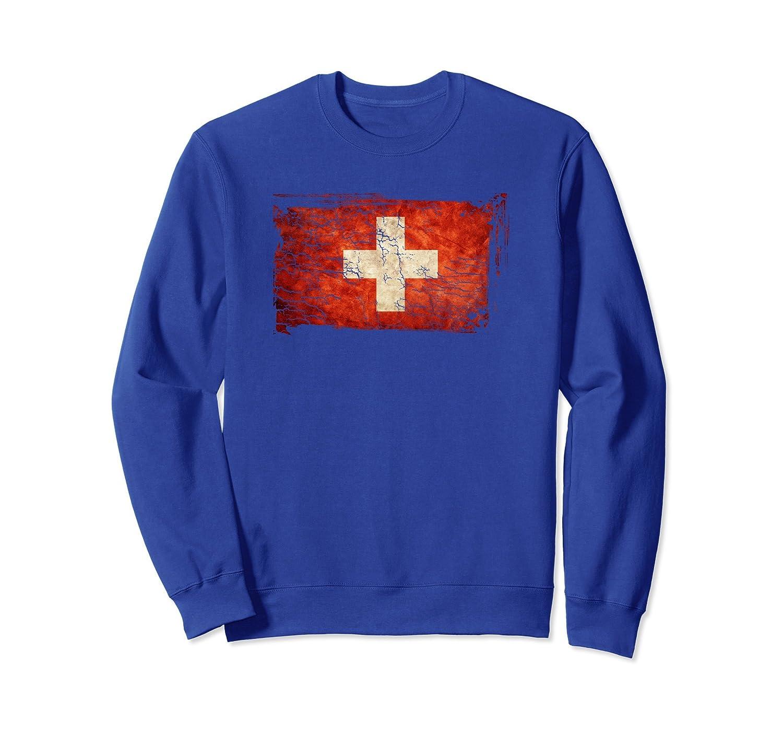 Unique Trendy Vintage Switzerland Flag Sweatshirt G003752-fa