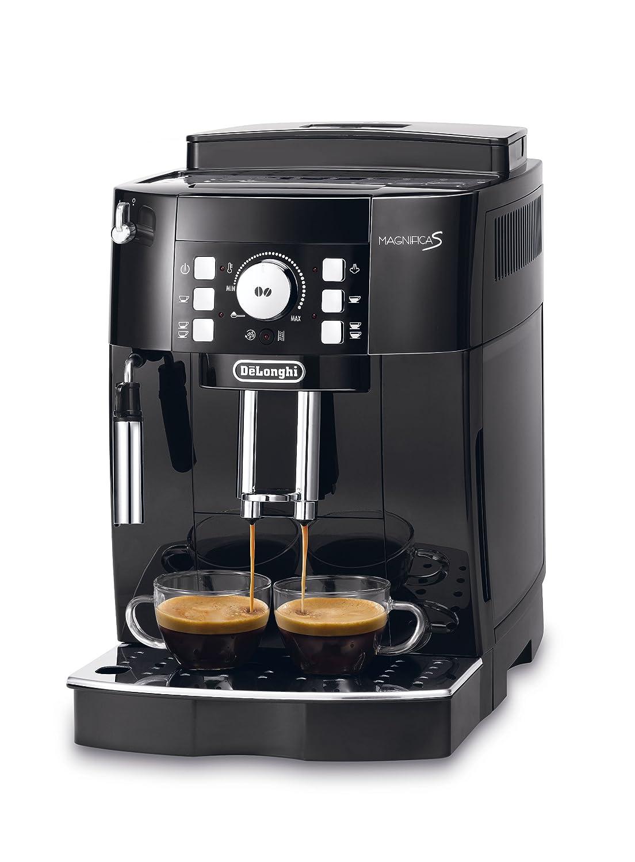 DeLonghi ECAM 21.116.SB Cafetera automática, granos de café, café molido, 1.8 L, 15 bares, 1450 W, negro y plateado: Amazon.es: Hogar