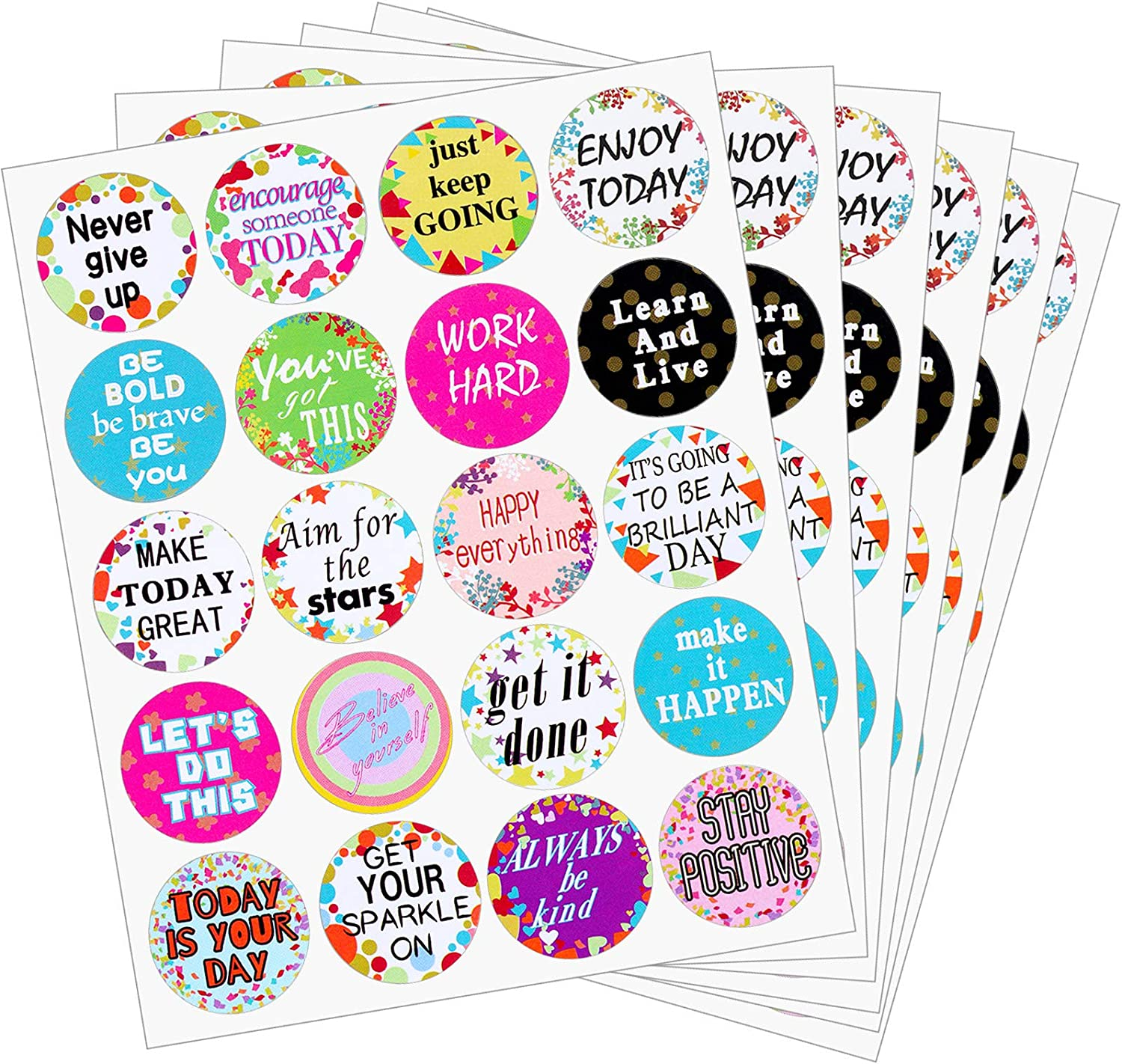 240 Pieces Inspiring Planner Stickers Inspirational Quote Stickers Encouraging Stickers Confetti Motivational Encouragement Stickers for Laptop Book Phone Car Luggage Bike Scrapbook