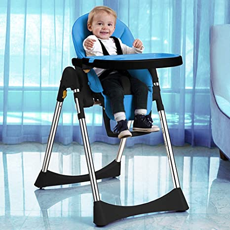 Velu Soft Leather Foldable Fully Adjustable Baby Highchair Child