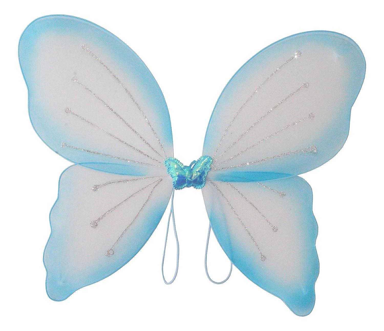 Elfenflügel, in 3 erhältlich, Karneval, Märchen, Elfe, zauberhaft, märchenhaft, verzaubernd, schön, Gummi zum Anziehen, traumhaft(Blau) Elfenflügel in 3 erhältlich Märchen märchenhaft