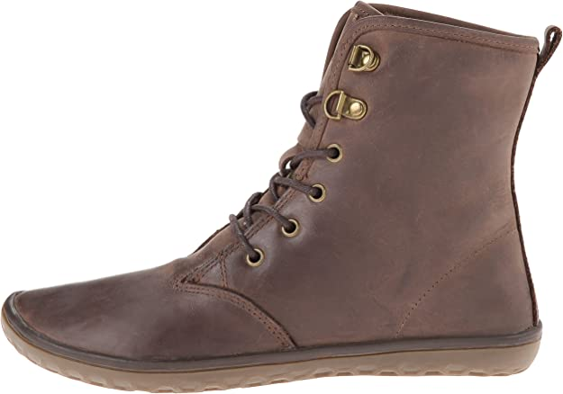 VIVOBAREFOOT Gobi II Womens Leather Lace Up Desert Boot with Durable Barefoot Sole