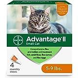 Advantage II - Tratamiento y prevención de pulgas para gatos pequeños, 5-9 libras