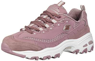 838dfd35d97824 Skechers Damen Sneaker D´Lites Polka NITE Lila Mauve  Amazon.de ...