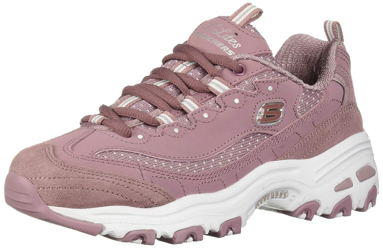 Mauve Skechers Womens D'Lites Sneaker